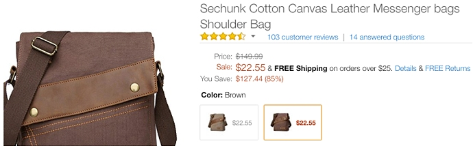 Amazon leather bag