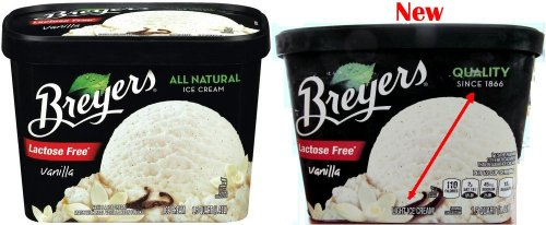 Breyers old - new front