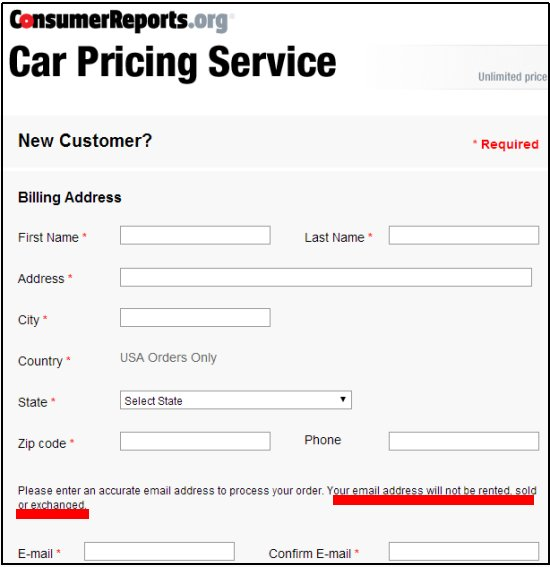 car pricing service