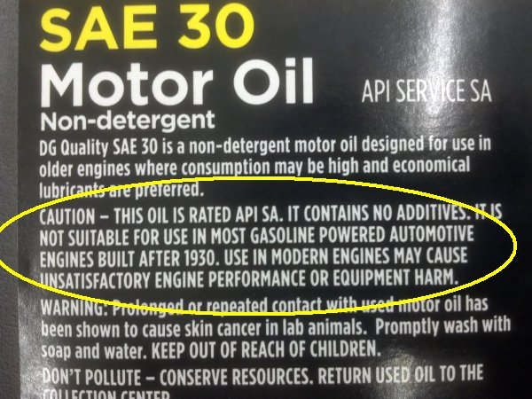 Thanks for nothing 2 dollar general found selling for Private label motor oil manufacturer