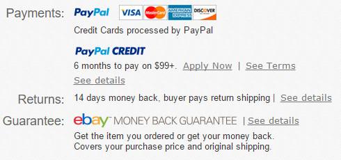eBay returns