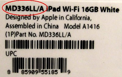 ipad 3 label