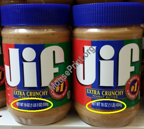 Jif then and now