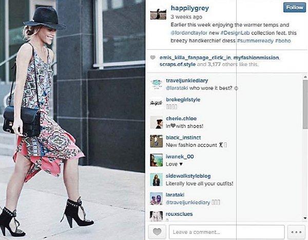 Instagram dress