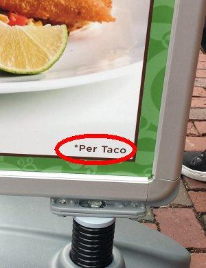 each taco