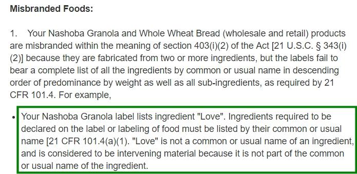 Love ingredient