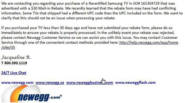 newegg apology