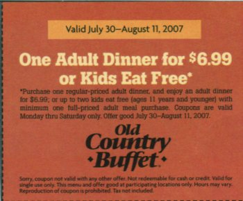 picture about Old Country Buffet Printable Coupons Buy One Get One Free named Previous region buffet discount codes printable - 3ds xl package concentrate