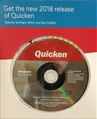 Quicken 2018 Upgrade CD