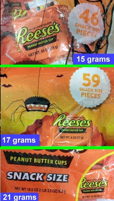 Reese 15-17-21 grams