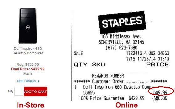 Staples week one prices
