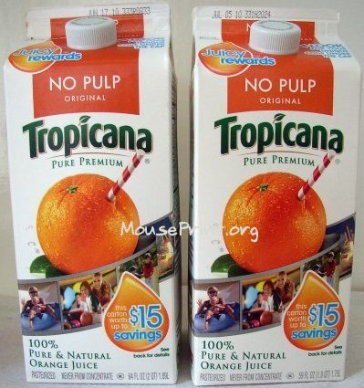 cartons of orange juice. of Tropicana orange juice?