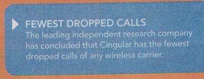 Cingular Fewest Dropped Calls