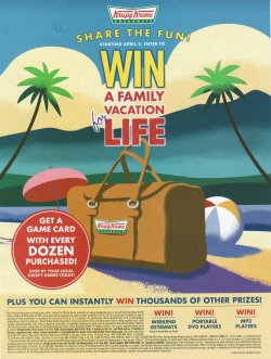 Krispy Kreme Vacation Sweepstakes t