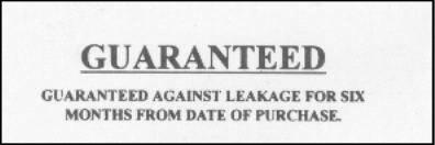 Totes guarantee