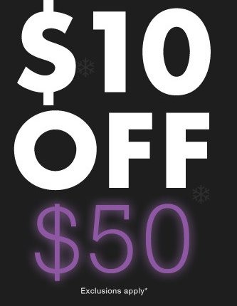 $10 off $50 purchase