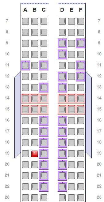American Airlines Aisle Seats Now A Perk For The Loyal Or Rich. Seat. Airplane Seating Schematic At Scoala.co