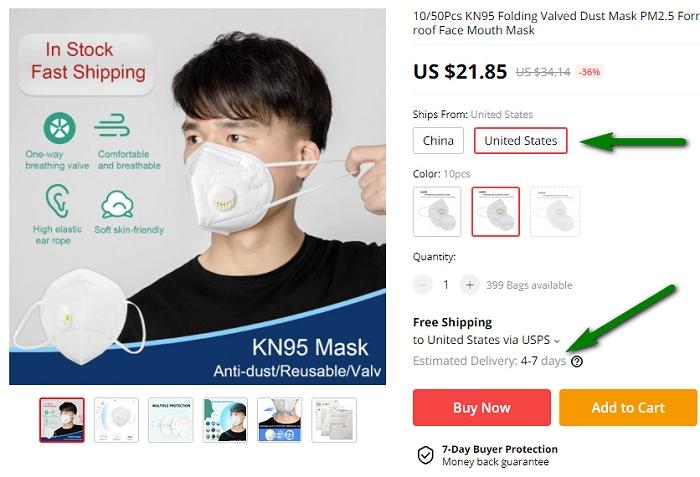 AliExpress Mask Ad