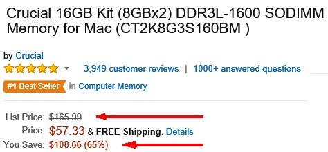 Amazon comparison