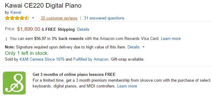 Amazon piano