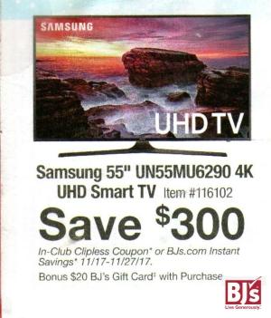 BJs Samsung $300 off