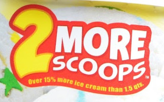 2 more scoops