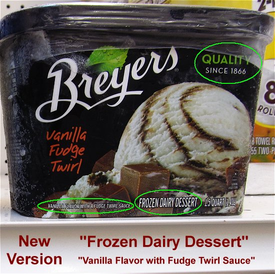 Breyers dairy dessert