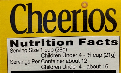 Cheerios nutrition facts