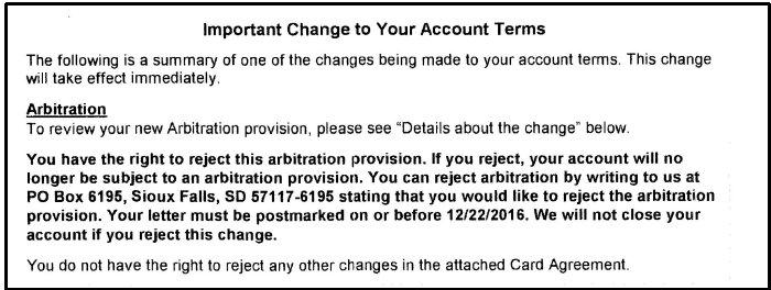 arbitration provision