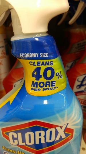 Clorox 40% more