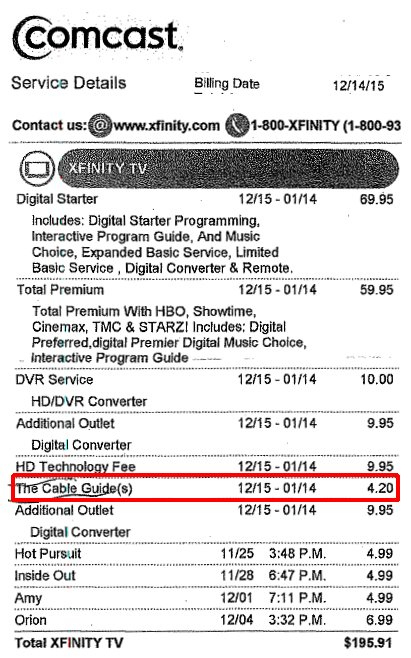If You Don't Check Your Cable Bill…