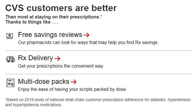 CVS better reasons