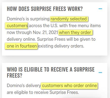 Domino's free
