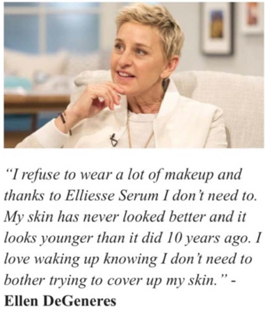 Ellen never said this