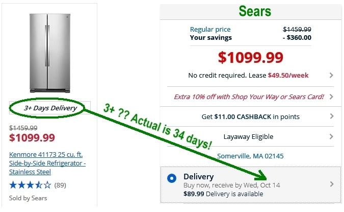 Sears Kenmore fridge