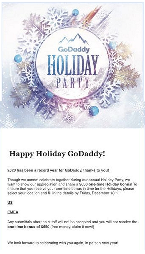 GoDaddy invitation
