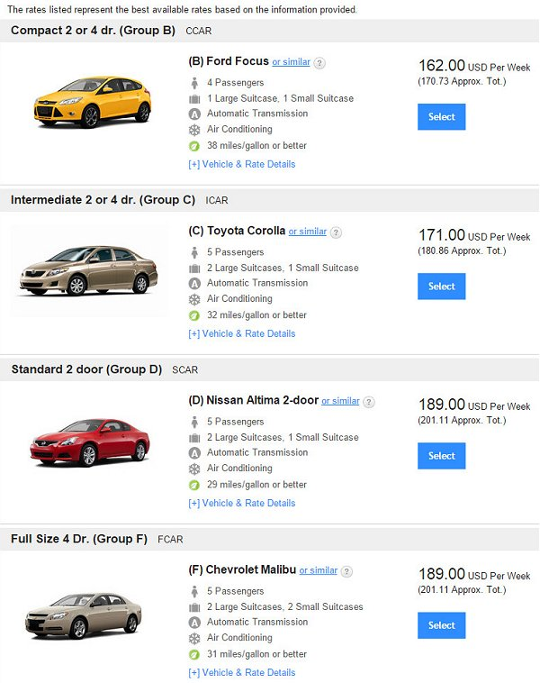 Hertz hides the lowest priced cars Cheapest rent prices in usa