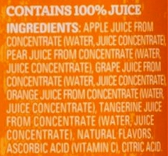 Juicy Juice ingredients