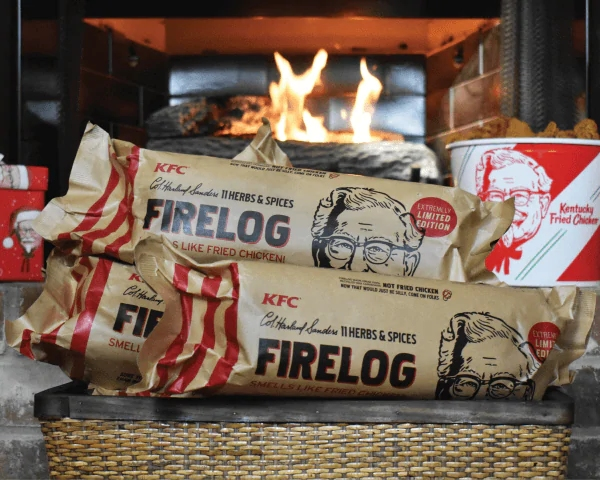 KFC fireplace logs