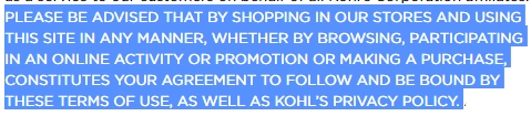 Kohl's waiver 2