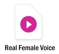 Real female voice