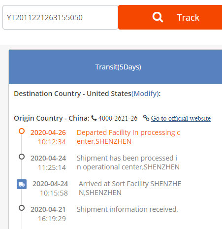 Chinese tracking