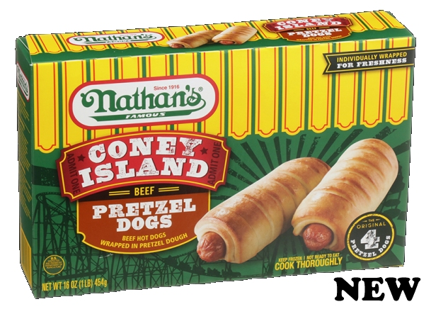 Nathan's pretzel dogs new