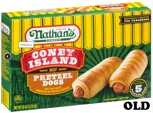 Nathan's pretzel dogs old
