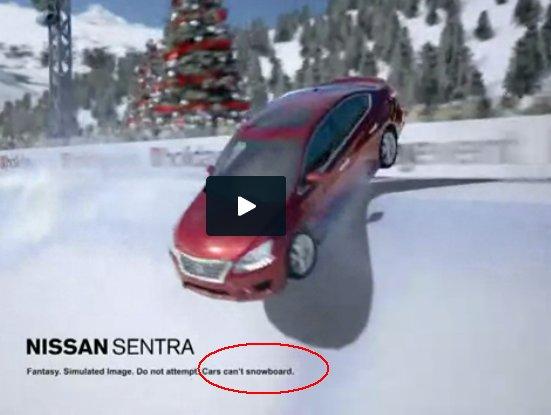 Nissan snowboarding