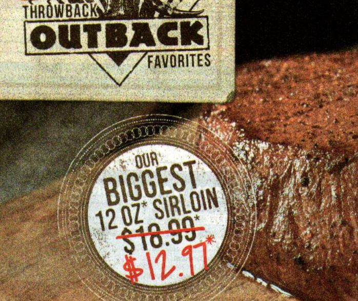 Outback largest 12 ounce steak