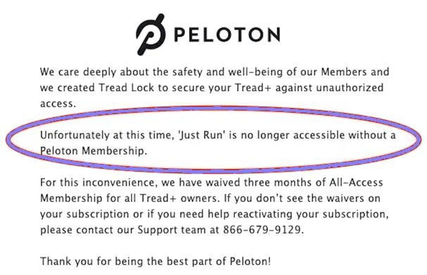 Peloton membership