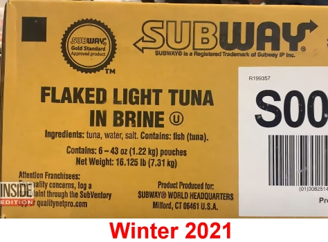 Subway carton