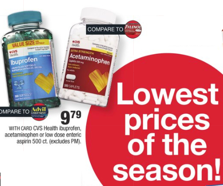 CVS lowest prices of the season
