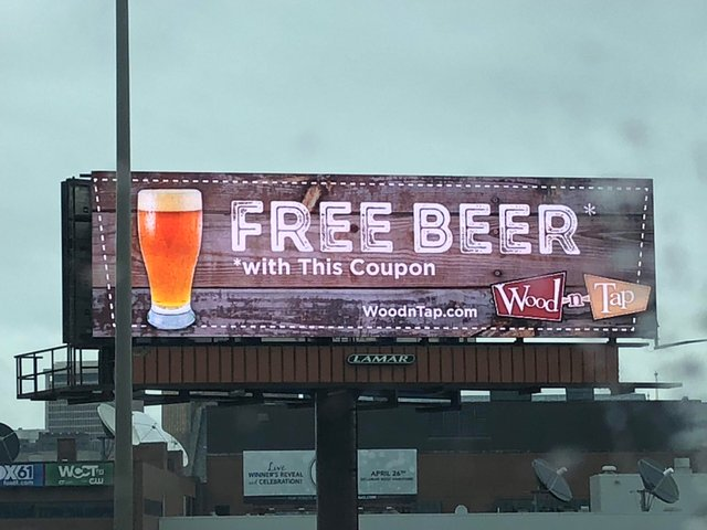 free beer with coupon